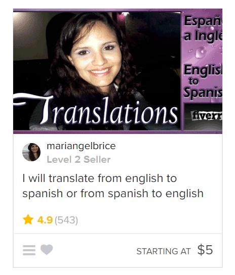English to Spanish Translation gig